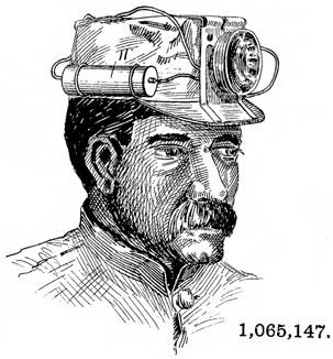 patent 1065147 Miners Lamp