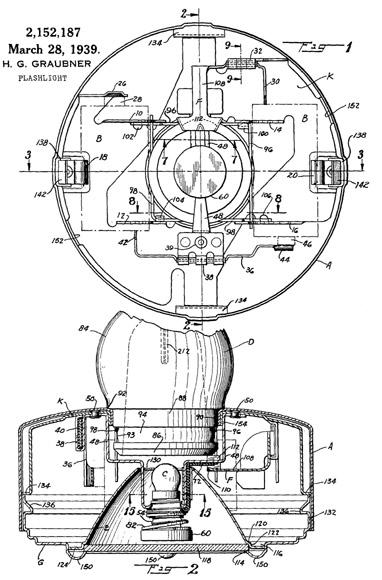 Eveready Table Masterlite patent 2152187