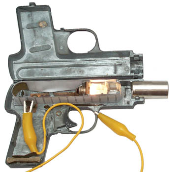 Auto-Magic Projector Pistol with dummy film and lamp on