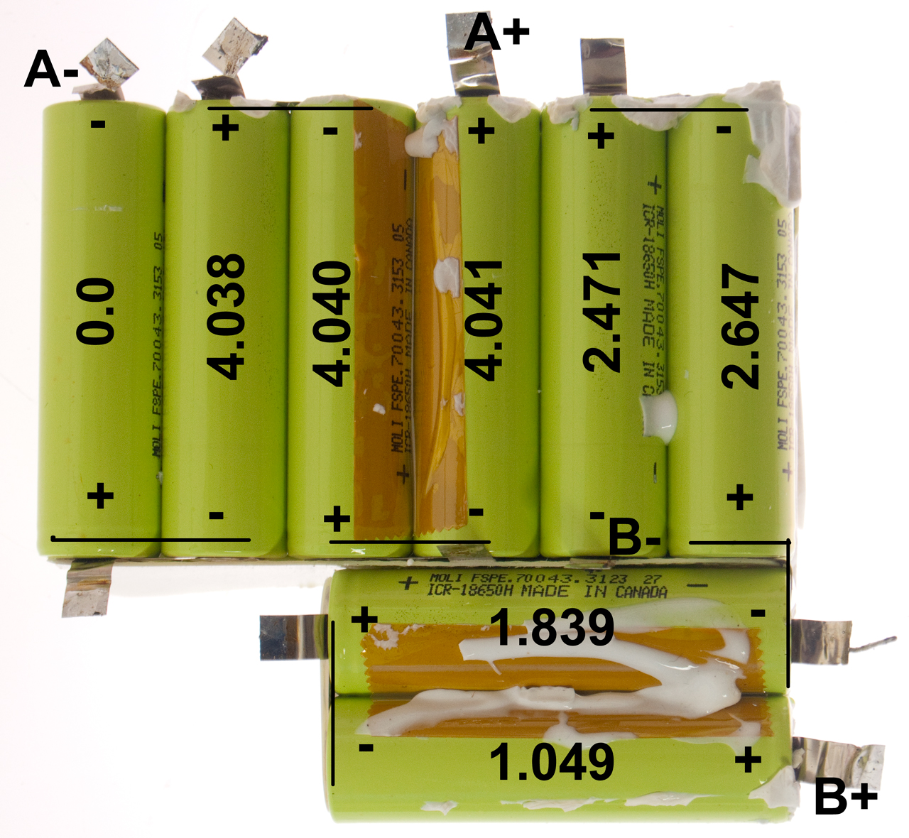 Ba 5590 U Hawker Powersource Battery Cell Diagram Bb 2590 Pack Removed With Voltages