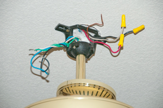 Removing ceiling fan red wire for