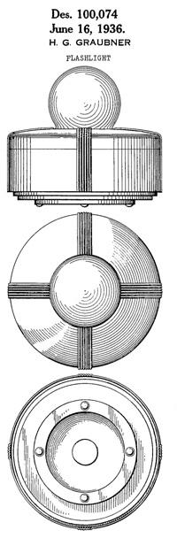 Eveready Table Masterlite Design patent D100074