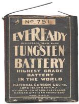 Eveready No. 751 Pocket Flash Light Battery