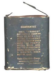 Franco No. 1041 Pocket Flash Light Battery back