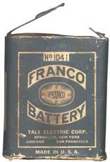 Franco No. 1041 Pocket Flash Light Battery front