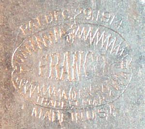 Franco Pocket Flashlight Trademark 1914