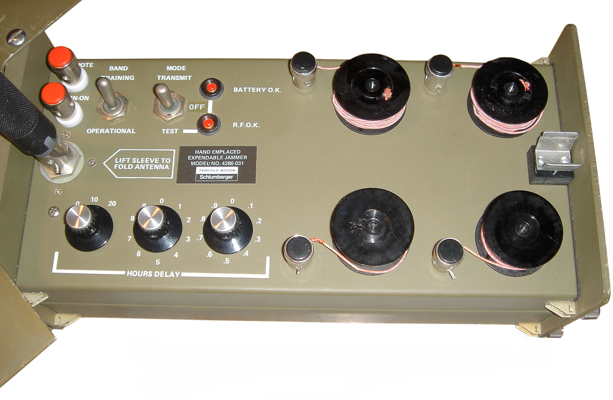 Hexjam Hand Emplaced Expendable Jammer Fm Radio Control Panel