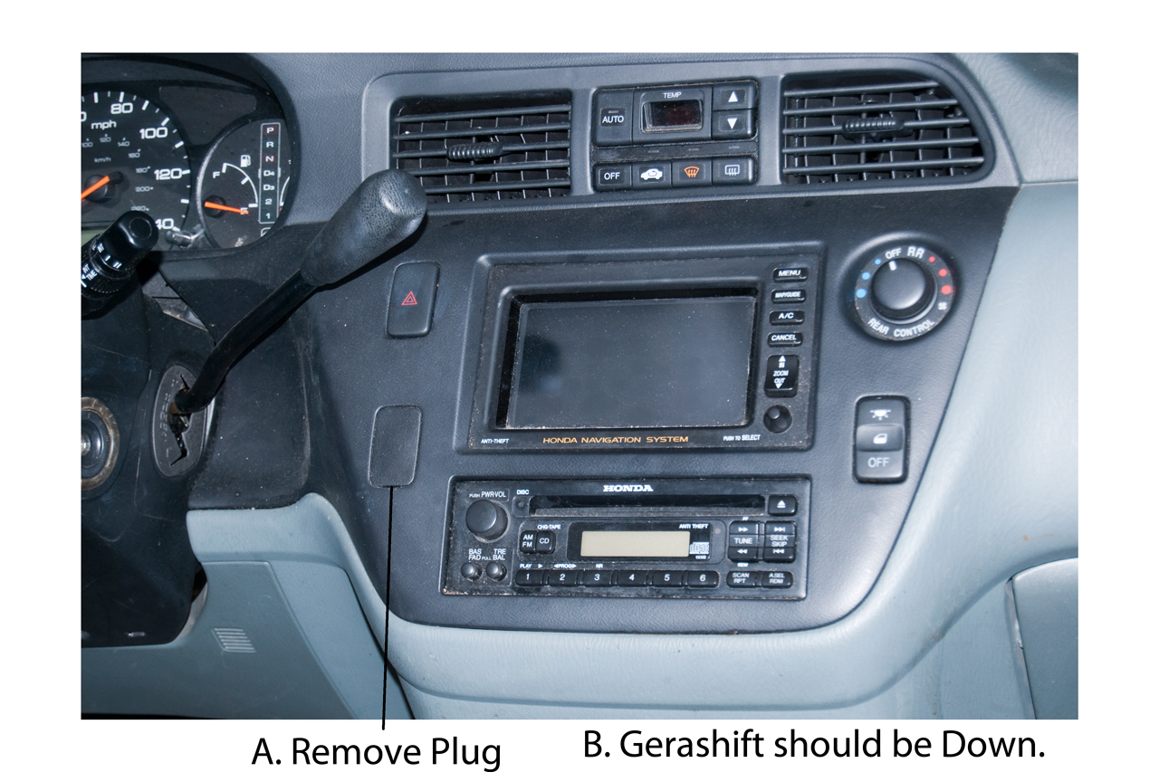 Removing Auto Radio 2000 Honda Odyssey