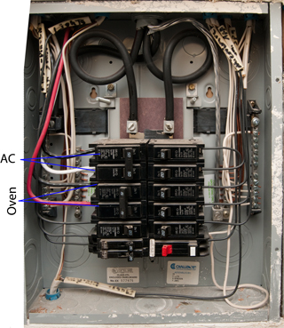 hints \u0026 tips Wiring an Electrical Service wiring for new oven there is an outside breaker panel