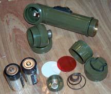 Army Angle Head Flashlight MX-991/U Exploded