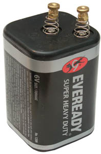 1209 Lantern Battery with Thumb Nuts