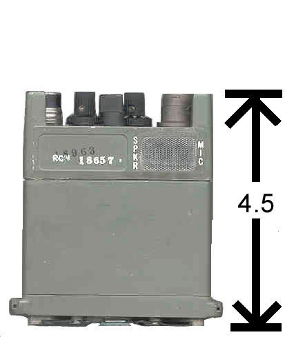 AS-4094 MILITARY RADIO RUBBER DUCKY ANTENNA PRC-128 PRC-126