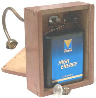 Table Lamp Battery Box & MN1203 4.5 V batt