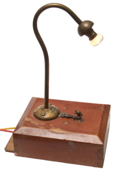 Wood Box Table Light
