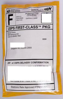 usps first class postage domestic package label