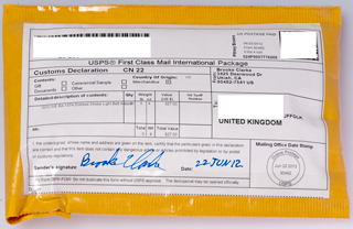 usps first class mail international package label
