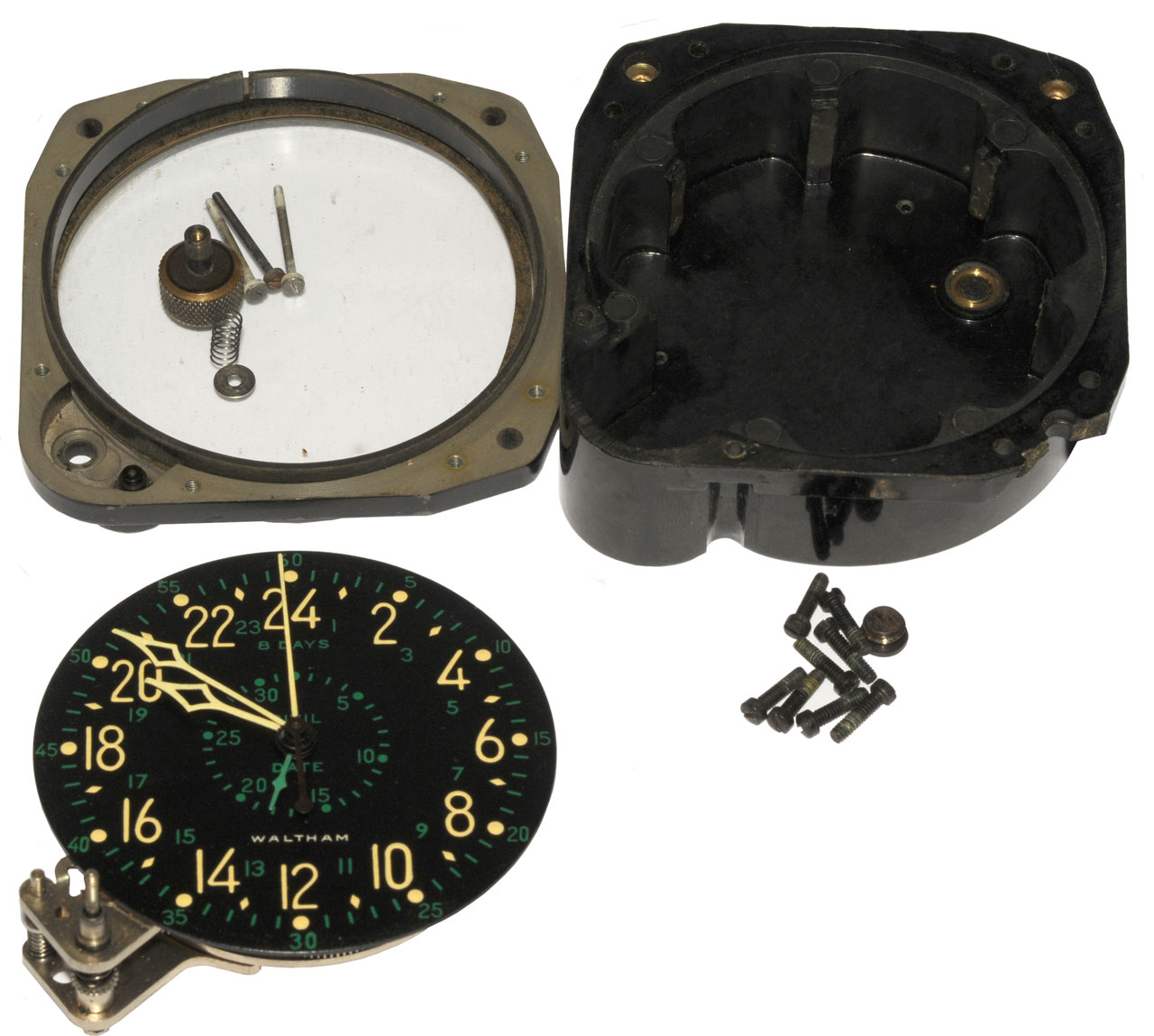 Item 1 Vine Wittnauer Aircraft 8 Day Clock Tested To Work Holds Time