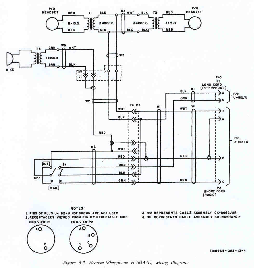 H 161a U Headset Circuit Diagram Schematic Different From 161 Pin A On The Radio Audio Connector Seems To Have No Connection Rest Of