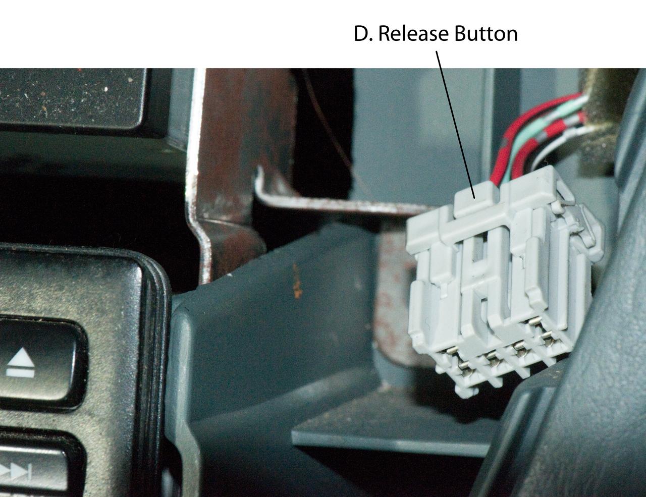 2000 Honda Oddyssey Radio Removing Center Dash Panel Connectors