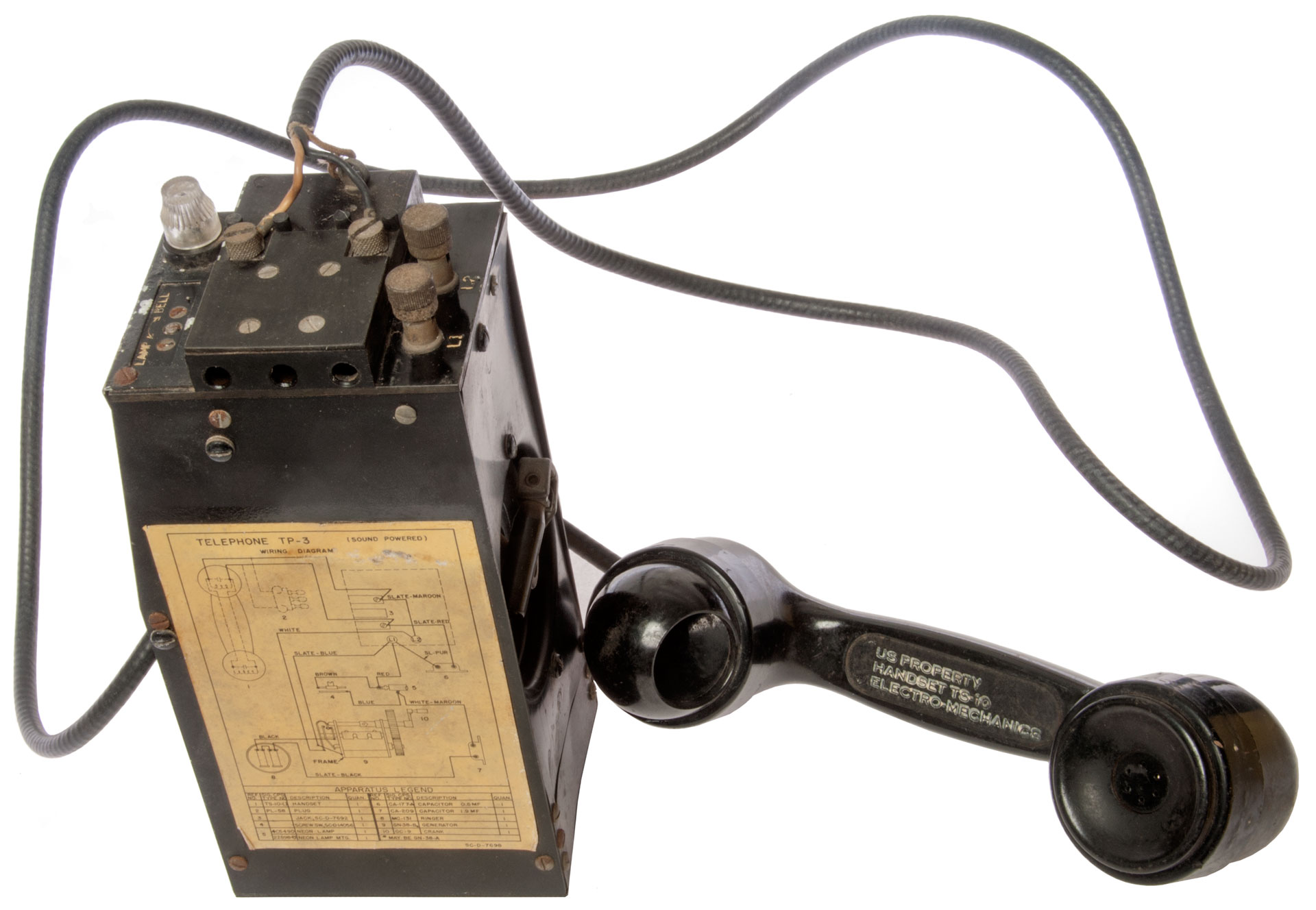 tp-3 sound powered telephone set