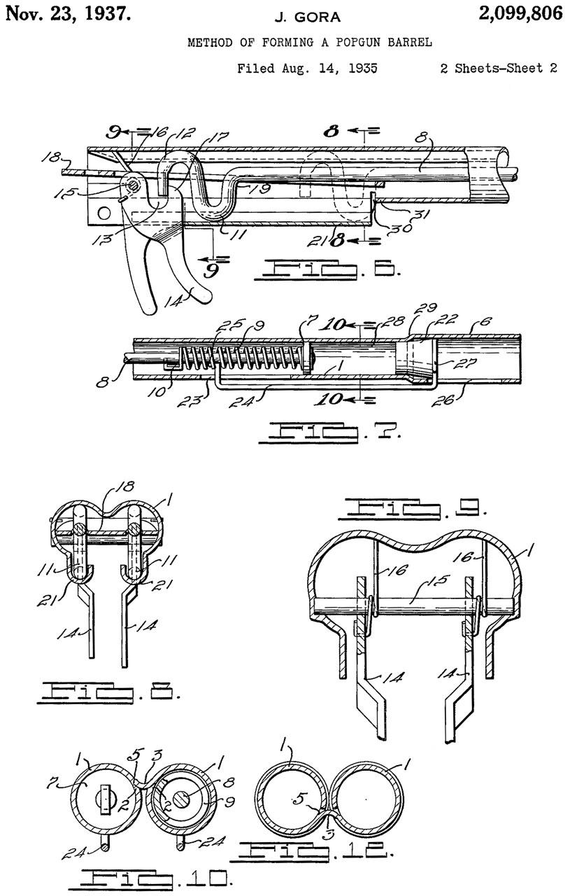 Pop Guns 1935 Plymouth Wiring Diagram 2099806 Method Of Forming A Popgun Barrel John Gora